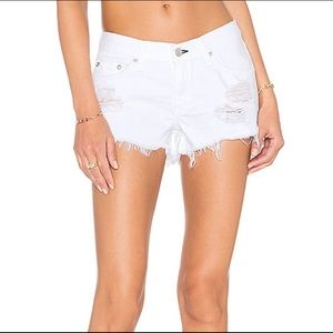 rag & bone White Distressed Jean Shorts size 25